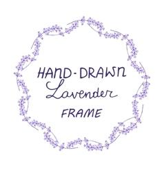 Lavander frame hand drawn vector