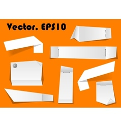 Paper notes and scraps vector