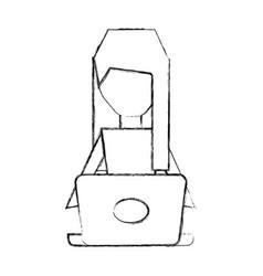 Pc faceless cartoon vector