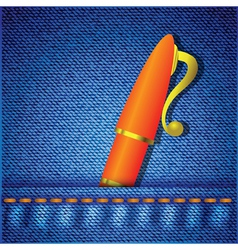 Pen in jeans pocket vector