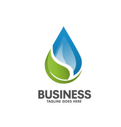 pure healthy water leaf logo vector image