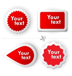 red sticker for text vector image