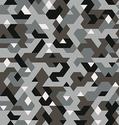 Seamless pattern in camouflage style pixel vector