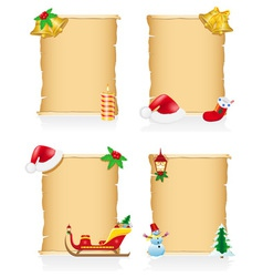 Set vintage christmas blank scroll vector