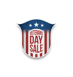 Veterans day sale emblem with text vector