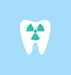 x-ray tooth flat icon vector image vector image