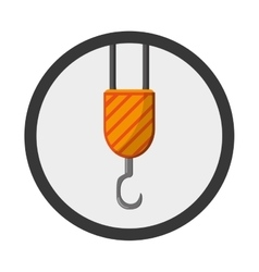 Crane hook icon vector