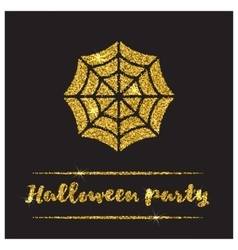 Halloween gold textured web icon vector