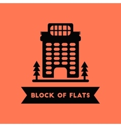 Apartment block building vector
