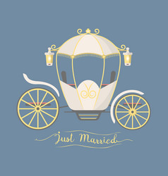 fairy tale vintage carriage decoration royal vector image