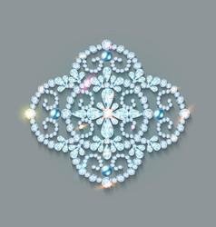 brooch with precious stones vector image