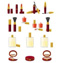 Set icons cosmetics 01 vector