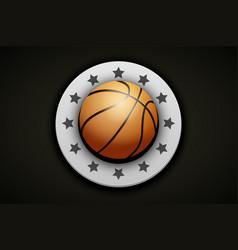 Premium basketball label vector