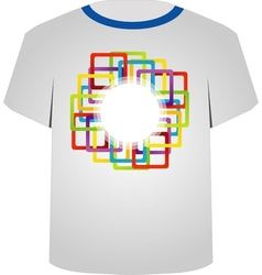 T shirt template- colorful blocks vector