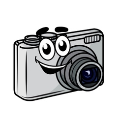 Cute little cartoon compact camera vector