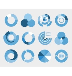 circle diagram elements vector image