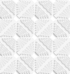 Diagonal white wavy lines and squares layered vector