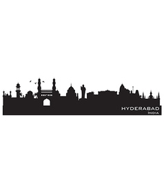 Hyderabad india skyline detailed silhouette vector