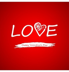 Text on a red background on valentines day vector