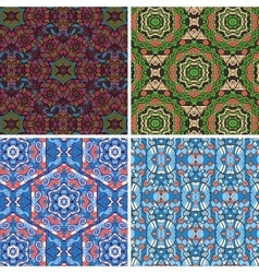 Seamless pattern in blue and green colors vector