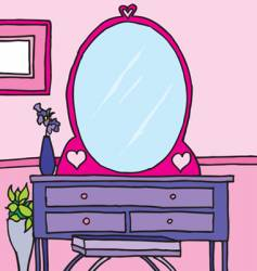 Girls room dresser vector
