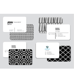 Modern simple business card template illus vector