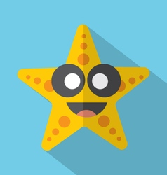 Modern Flat Design Starfish Icon vector image