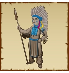 Traditional statuette of the indians vector