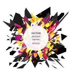 Abstract explosion banner vector