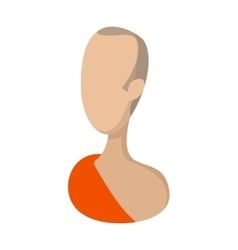 Buddhist monk cartoon icon vector