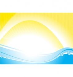 hot sea vector image