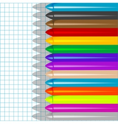background with crayons4 vector image vector image