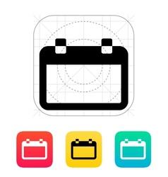 Blank calendar icon vector