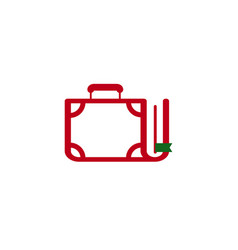 Book suitcase icon vector