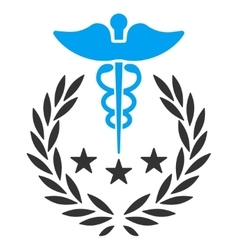 Caduceus logo icon vector