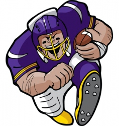 cartoon football running vector image vector image