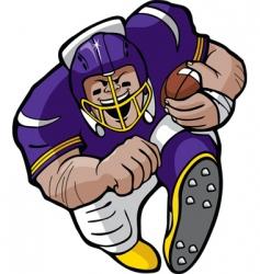 Cartoon football running vector