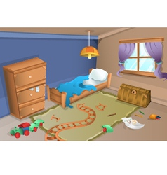 Child bedroom vector