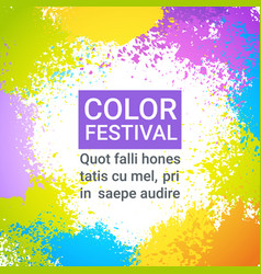 color festival happy holi india holiday vector image