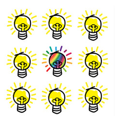 different idea concept vector image vector image