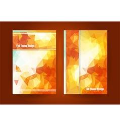 fall theme flyer vector image vector image