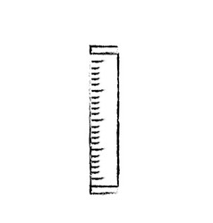 figure ruler school tool object design vector image vector image