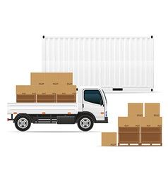 freight transportation concept 03 vector image vector image