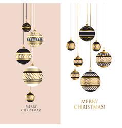 Gold metal bauble ornament vector