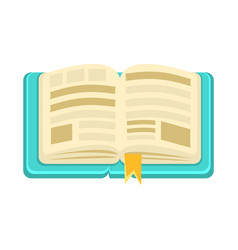 Hard cover open book with bookmark object from vector