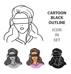 Hostage icon in cartoon style isolated on white vector