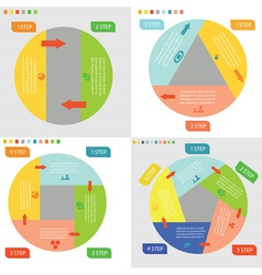 Info graphic business circles vector