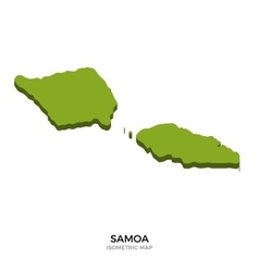 Isometric map of samoa detailed vector