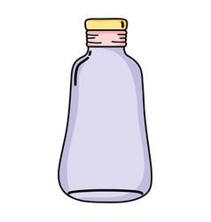 Long mason jar preserve decoration vector