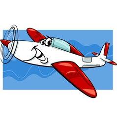 low wing air plane cartoon vector image vector image